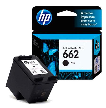 PCSHOP Informática Cartucho HP 662 Preto INK ADVANTAGE CZ103AB