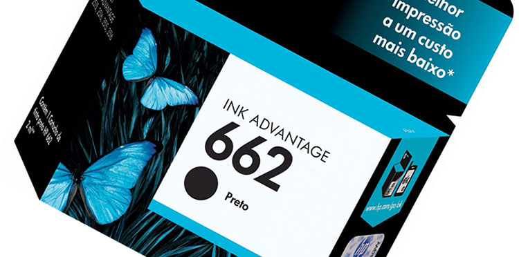 PCSHOP Informática Cartucho HP 662 Preto INK ADVANTAGE CZ103AB