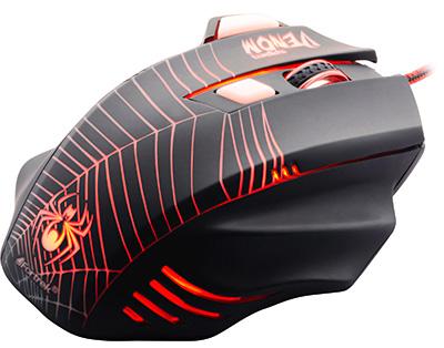 PCSHOP Informática Mouse Gamer Fortrek Spider Venom 2000dpi USB OM-704