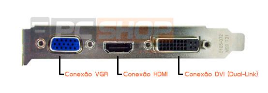 PCSHOP Informática Placa de Vídeo GeForce GT 610 EVGA 1GB DDR3 64Bit