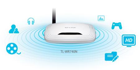 PCSHOP Informática Roteador WI-FI TP-LINK 150Mbps Antena 5Dbi Fixa N TL-WR740N