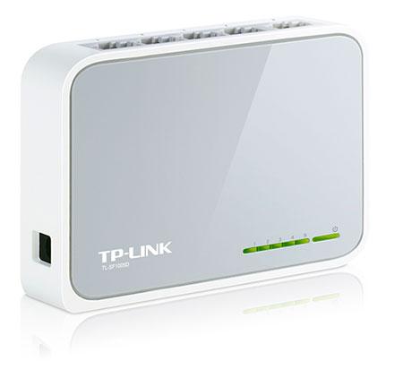PCSHOP Informática Switch 5 Portas TP-LINK de Mesa 10/100Mbps TL-SF1005D