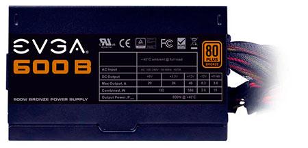 PCSHOP Informática Fonte EVGA 600W ATX 80 PLUS BRONZE 600B
