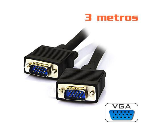 PCSHOP Informática Cabo VGA 3m preto Mymax