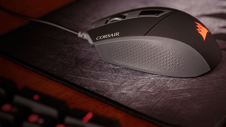 PCSHOP Informática Mouse Gamer CORSAIR KATAR 8000DPI Blacklit Red