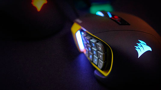 PCSHOP Informática Mouse Gamer Corsair Scimitar RGB 12.000Dpi Laser Pto/Am