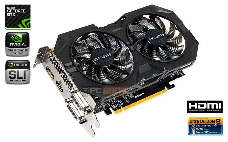 PCSHOP Informática Placa de Vídeo GeForce GTX 950 OC GIGABYTE 2GB GDDR5 128Bit