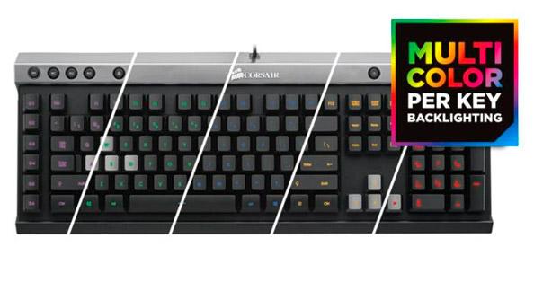 PCSHOP Informática Teclado Gamer Corsair Raptor K40 USB Multicolors CH-9000223-BR