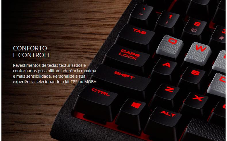 PCSHOP Informática Teclado Gamer Corsair Mecanico Strafe Cherry MX CH-9000088-BR