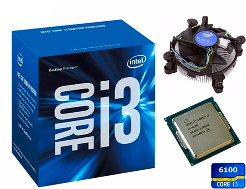 PCSHOP Informática Processador Intel Core i3-6100 3.7GHz 3MB Cache LGA 1151 6º Ger. Skylake
