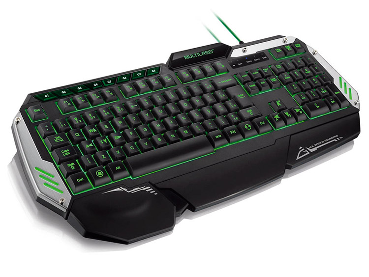 PCSHOP Informática Teclado Gamer Multilaser Profissional LED USB TC189