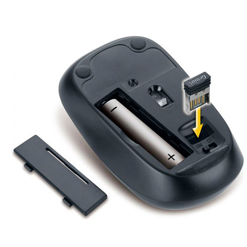 PCSHOP Informática Mouse Sem Fio Wireless Genius Blueeye Azul 2,4GHZ 1200DPI NX-7000