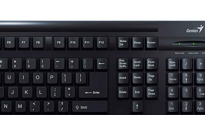 PCSHOP Informática Teclado Genius Preto USB KB-125