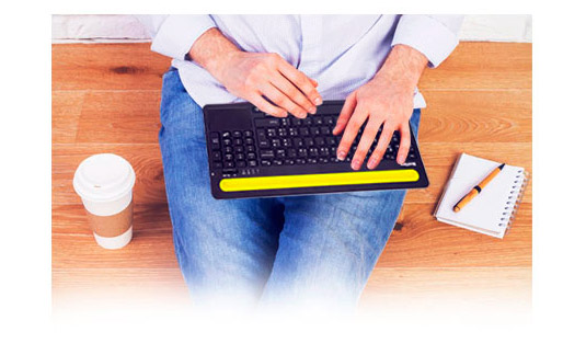 PCSHOP Informática Teclado Bluetooth Sem Fio Com Touchpad Braview Ultratop TMO-02B