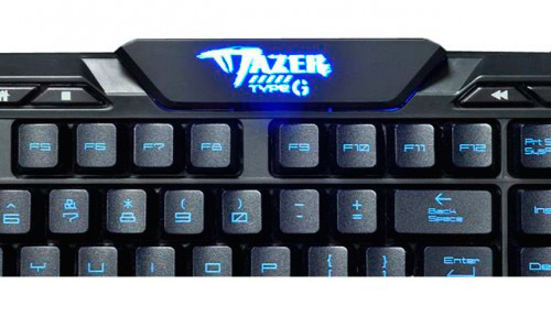 PCSHOP Informática Teclado Gamer E-Blue USB Mazer Preto/Azul TYPE-G
