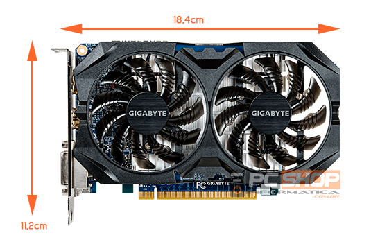 PCSHOP Informática Placa de Vídeo GeForce GTX 750 TI Gigabyte 2GB GDDR5 128Bit
