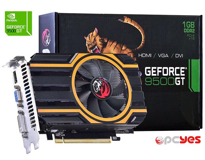 PCSHOP Informática Placa de Vídeo GeForce 9500GT PCYES 1GB DDR2 128Bit
