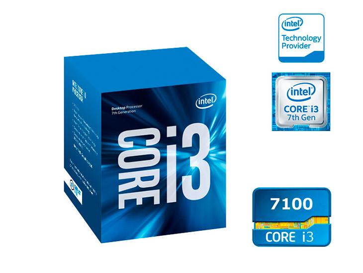 PCSHOP Informática Processador Intel Core i3-7100 3.9GHz 3MB Cache LGA 1151 Kaby Lake 7ª Ger.