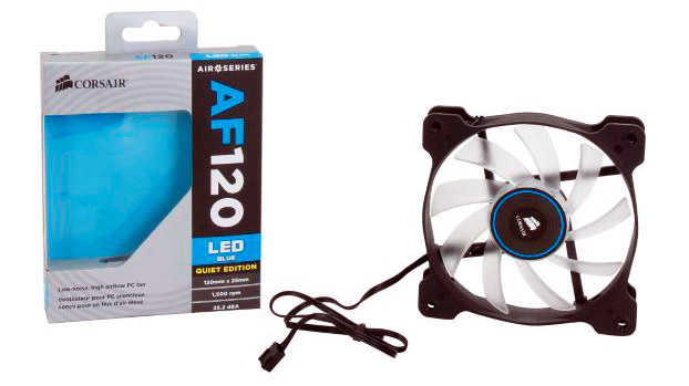 PCSHOP Informática Cooler Gabinete Corsair Fan 120mm LED Azul CO-9050015-BLED AF120