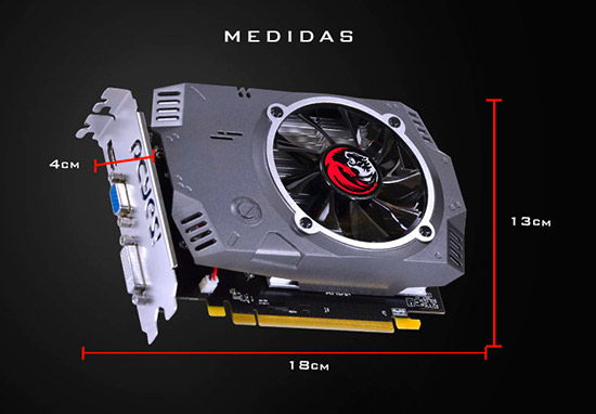 PCSHOP Informática Placa de Vídeo AMD RADEON R7 240 PCYES 2GB DDR5 128Bit