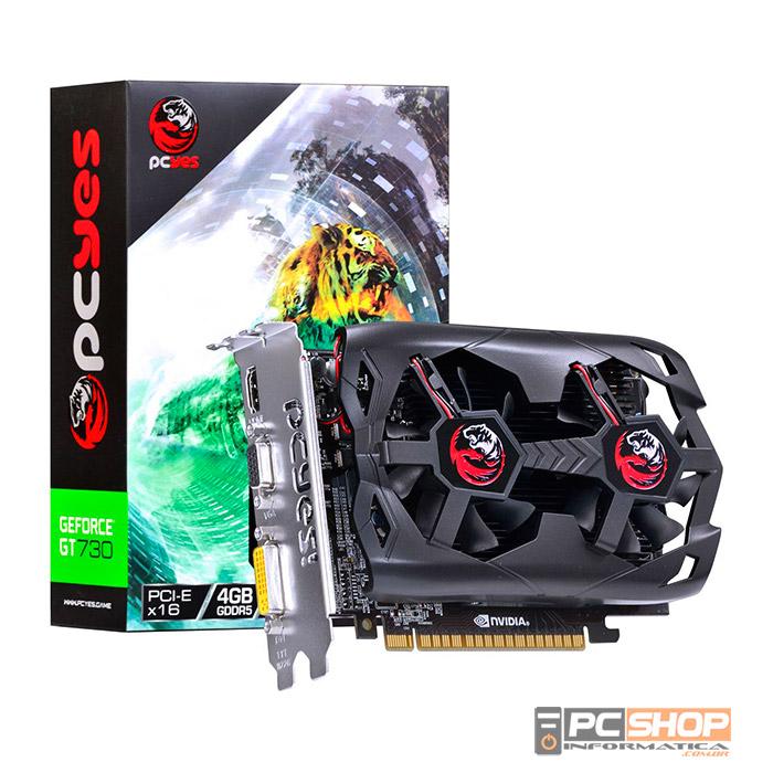 9b7d0d3e4c714 Placa de Vídeo GeForce GT 730 PCYES 4GB GDDR5 128Bit   PCSHOP ...