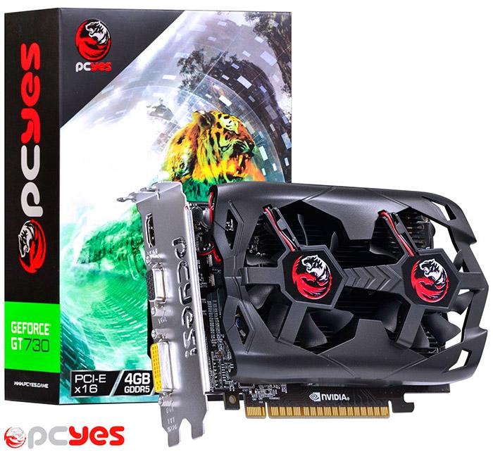 PCSHOP Informática Placa de Vídeo GeForce GT 730 PCYES 4GB GDDR5 128Bit