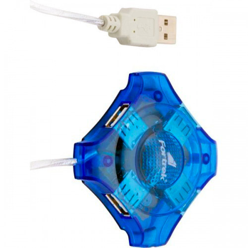 PCSHOP Informática Hub USB 4 portas 2.0 Cabo 76cm Fortrek HBU-401