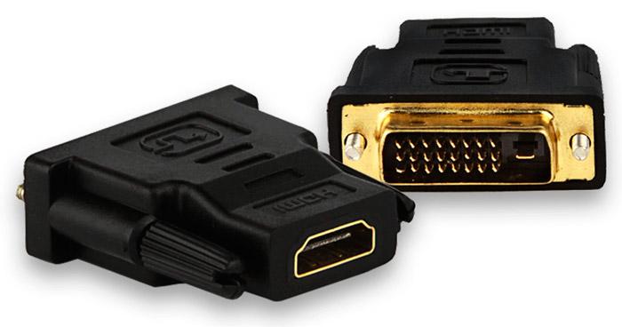 PCSHOP Informática Adaptador DVI Macho para HDMI Fêmea Preto