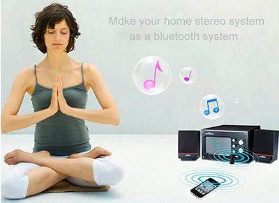 PCSHOP Informática Adaptador Bluetooth P2 USB Receptor de Áudio Sem Fio