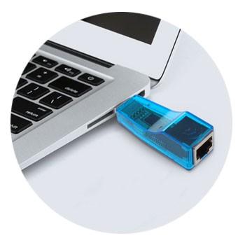 PCSHOP Informática Adaptador de Rede USB para RJ45 10/100Mbps