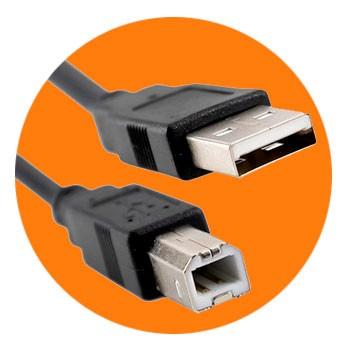 PCSHOP Informática Cabo USB para Impressora 3,0m 2.0 AM BM Preto Com Filtro Exbom