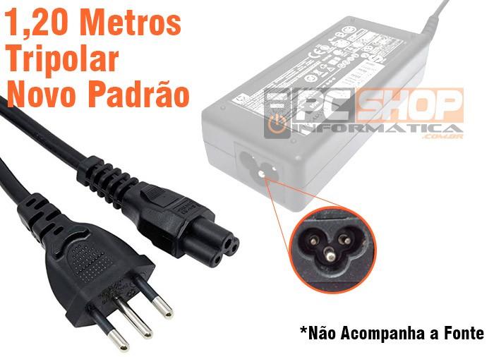PCSHOP Informática Cabo de Força para Fonte Carregador de Notebook Tripolar 1,2m