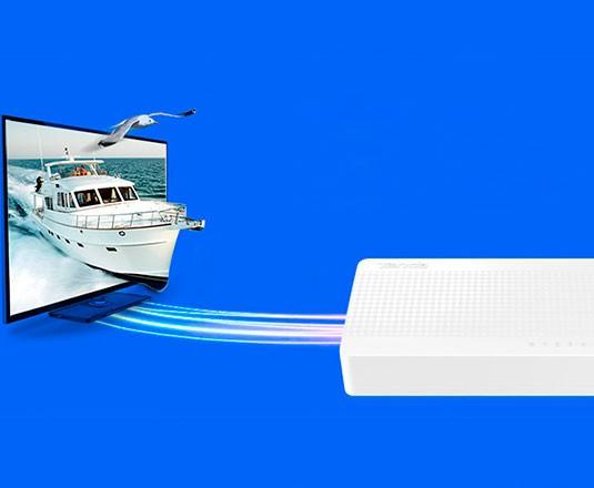 PCSHOP Informática Switch 8 Portas Hub de Mesa 10/100 Tenda S108