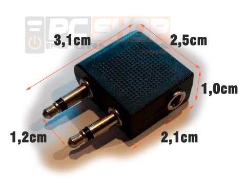 PCSHOP Informática Adaptador P2 Fêmea para 2 P2 Macho Stereo
