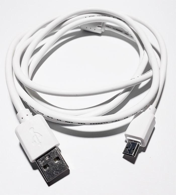 PCSHOP Informática Cabo Micro USB V8 Reforçado com Filtro Branco 1,5m