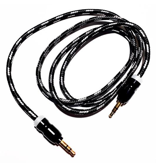 PCSHOP Informática Cabo P2 de Áudio Auxiliar P2 x P2 Som Estéreo Inova Reforçado 1,0m