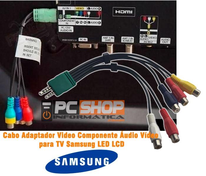 PCSHOP Informática Cabo RCA 5RCA x P1/P2 Adaptador TV Samsung 16cm