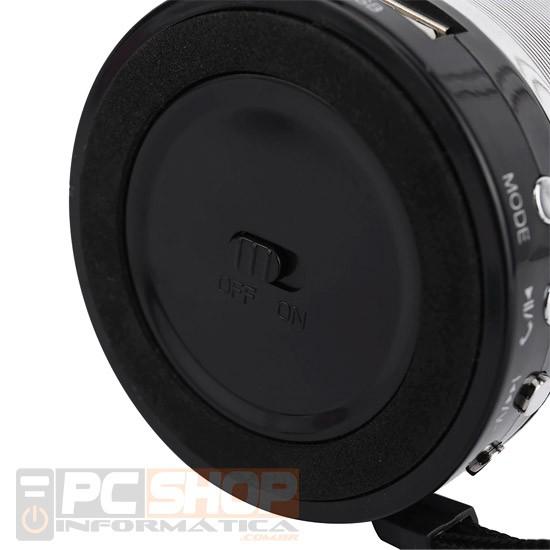 PCSHOP Informática Caixinha de Som com Bluetooth/FM/USB/SD Card/Aux P2/Microfone 15w