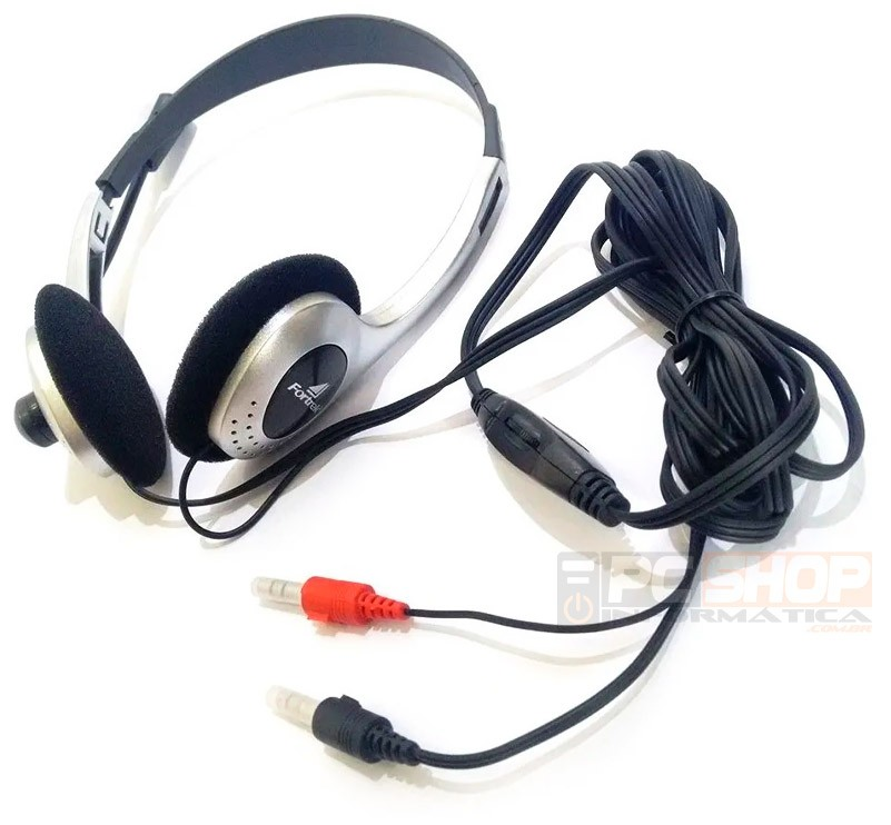 PCSHOP Informática Fone de Ouvido com Microfone para PC/Notebook Headset Fortrek HBL101