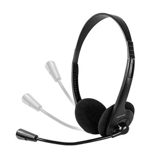 PCSHOP Informática Fone de Ouvido com Microfone para PC/Notebook Headset Multilaser PH002