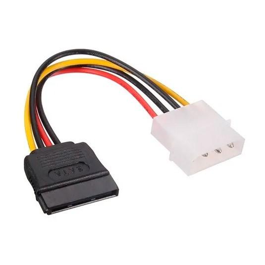 PCSHOP Informática Kit Cabo Adaptador Sata de Força + Cabo Sata de Dados HD/SSD/DVD/Fonte