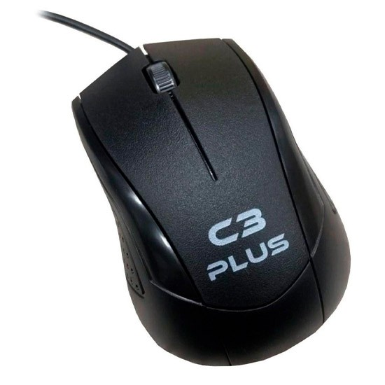 PCSHOP Informática Mouse USB Óptico Com Fio C3Tech Ergonômico 1000DPI MS-27BK