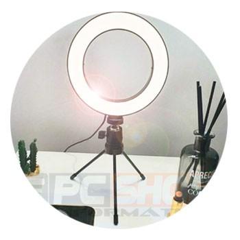 PCSHOP Informática Ring Light 6 Polegadas Pequeno 16cm Iluminador de Led com Tripé