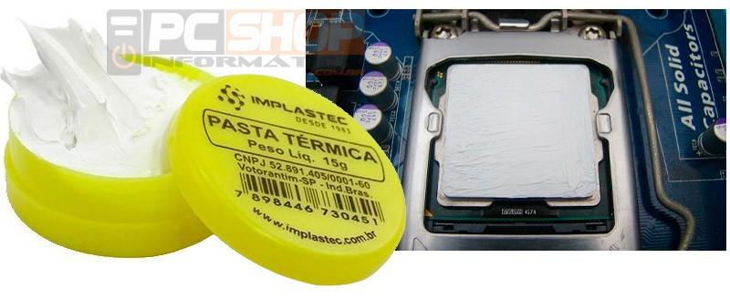 PCSHOP Informática Pasta Térmica Silicone Pote 15G Implastec