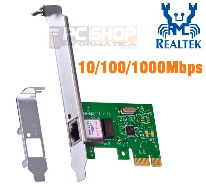 PCSHOP Informática Placa de Rede PCI Express Gigabit 10/100/1000Mbps com Low Profile Vinik