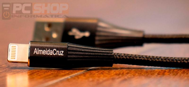 PCSHOP Informática Cabo Lightning iPhone Linha Ouro Reforçado Almeida Cruz X5 1,0m